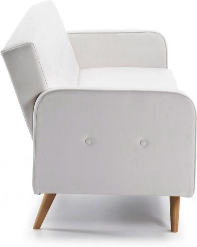Moderne Witte Slaapbank.Bedbank Roger 3 Zits Wit La Forma Lil Nl